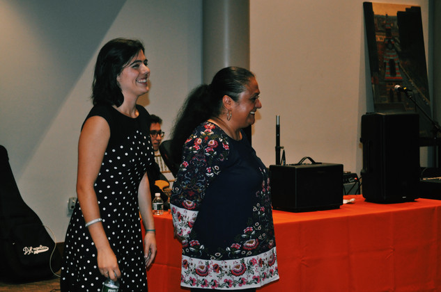 Organizers Carina  Gormley (l) and Carmen Mendez (r)