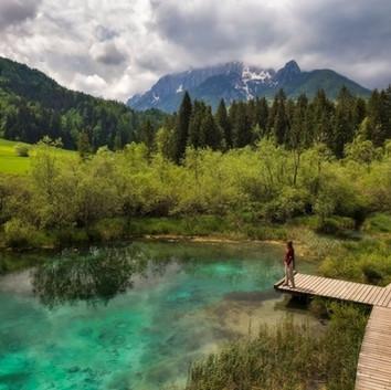 Zelenci Kranjska Gora By Drone