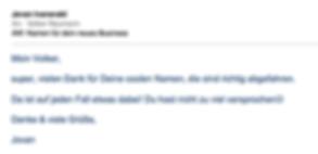 Freier Top Texter Kreativer Firmenname BOXANDO Dankeschön vom Kunden