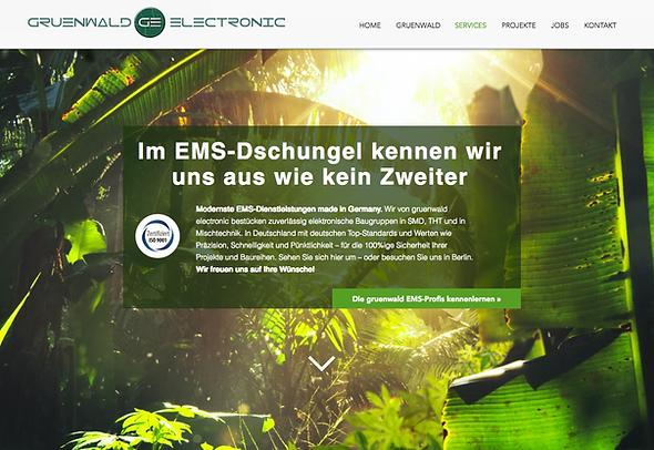 Website-Texte Webtexte für Gruenwald Electronic