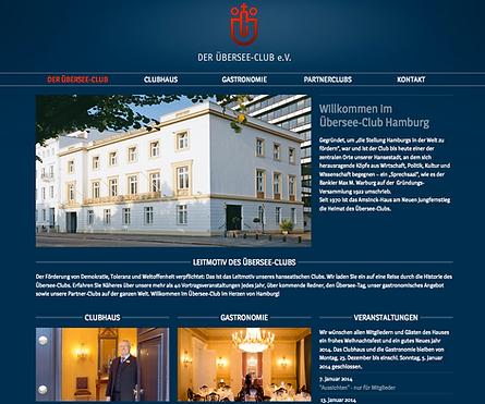 Website-Texte Webtexte Homepagetexte für Übersee-Club e.V.