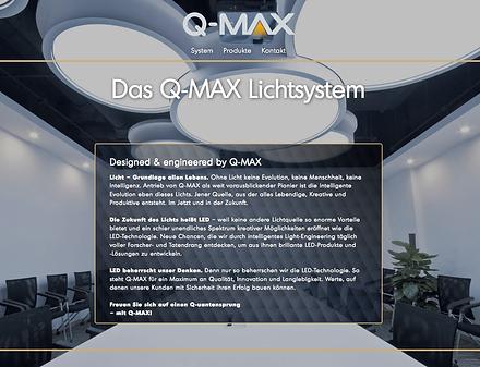 Website-Texte Webtexte Homepagetexte für Q-MAX LED Grosshandel