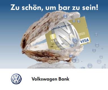Freier Top Texter Online-Werbe-Banner für VOLKSWAGEN BANK VISA CARD