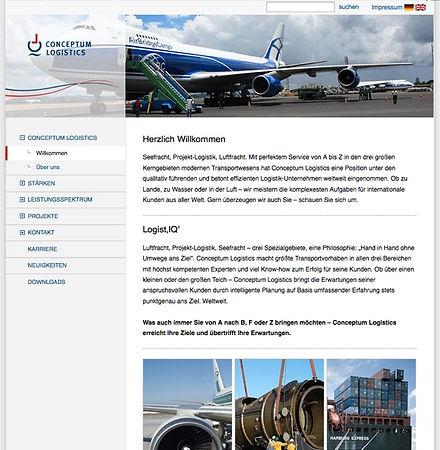 Website-Texte Webtexte Homepagetexte für Conceptum Logistics