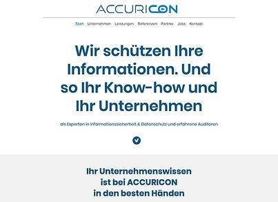 ACCURICON Branding Marktauftritt Website