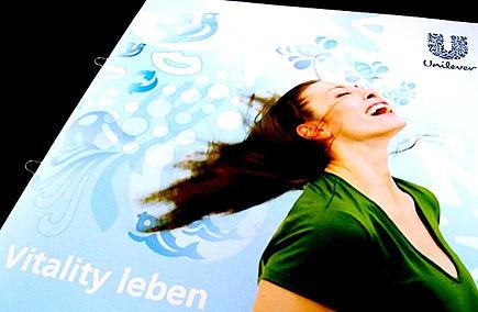 Freier Top Texter Texte Prospekt Broschüre Unilever Vitality Marken-Philosophie