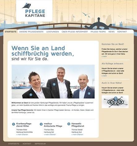 Website-Texte Webtexte Homepagetexte für Pflegekapiäne