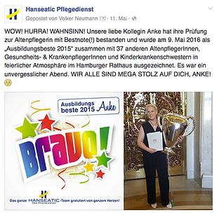 Facebook Posts von Gaehnfrei f Hanseatic