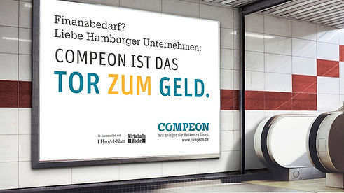 Kreative Kampagne COMPEON Fintech Startup