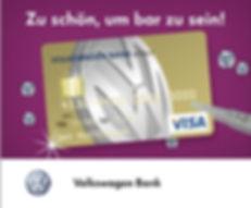 Kreative Online Kampagne Volkswagen Bank Visa Card