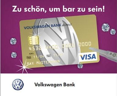 Freier Top Texter ONLINE WERBE-BANNER VOLKSWAGEN BANK VISA CARD