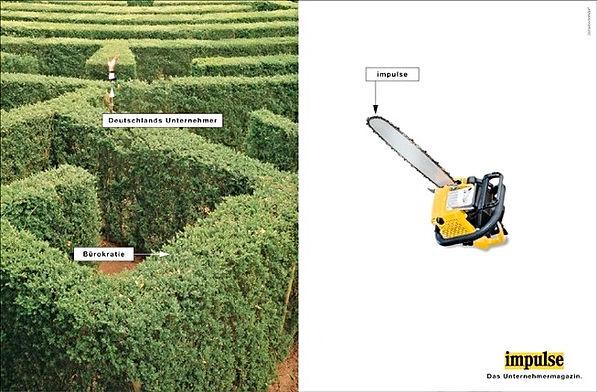 Kreative Anzeigen-Kampagne Spiegel Stern Focus