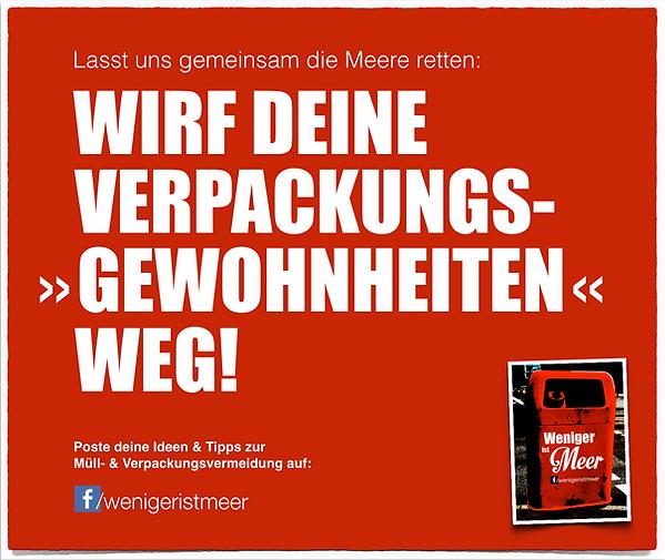 Freier Top Texter Volker Neumann Facebook-Seite Plastik-Vermeidung WENIGER IST MEER