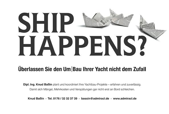 Freier Top Texter Print-Anzeige ADMIRACL SCHIFFSDESIGNER KNUD BASSIN