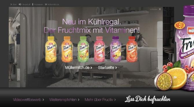 Freier Top Texter Online-Produkteinführungs-Kampagne MÜLLER FRUCTIV