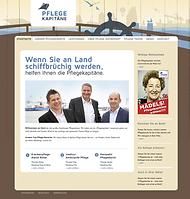 Pflegekapitäne Web-Auftritt by Gähnfrei