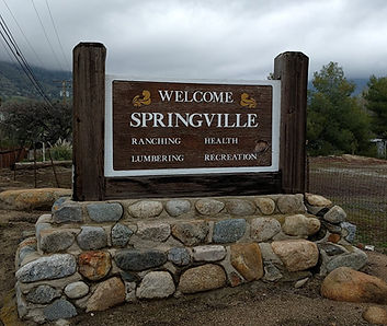 Welcome to Springville Sign