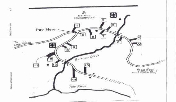 Belknap Campground Map