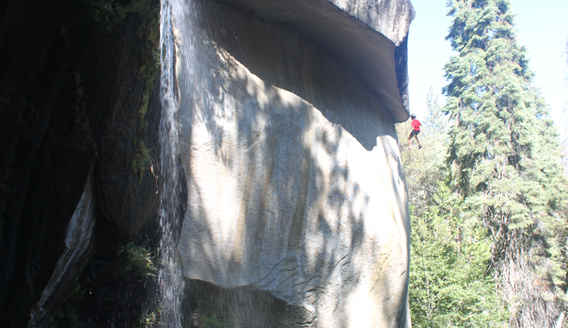 Nobe Young Falls is Popular with Experienced Rock Climbers