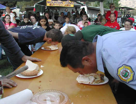 Springville Apple Festival Pie Eating Contest