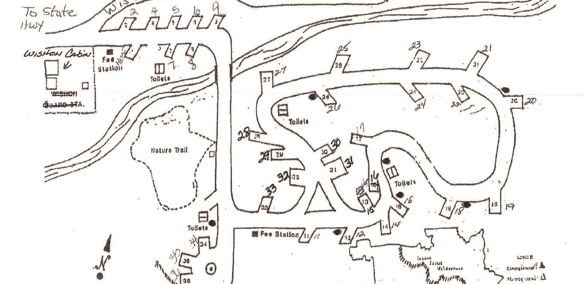Wishon Campgound Map
