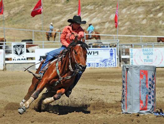 Barrel Racing at the Springville Sierra Rodeo