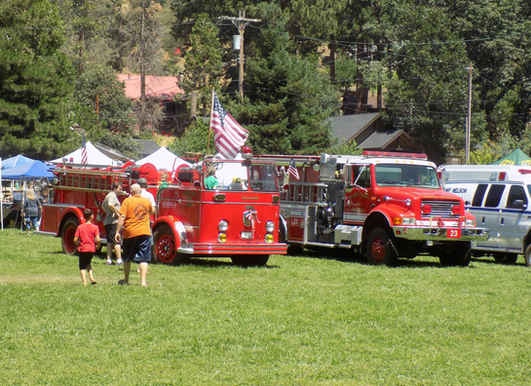 Fire Trucks at the Camp Nelson Mountain Festival