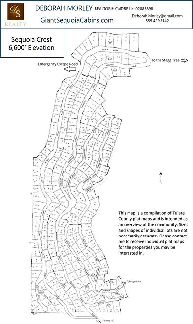 Sequoia Crest Community Map