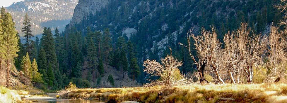 Fishing in Kern River in the Golden Trout Wilderness