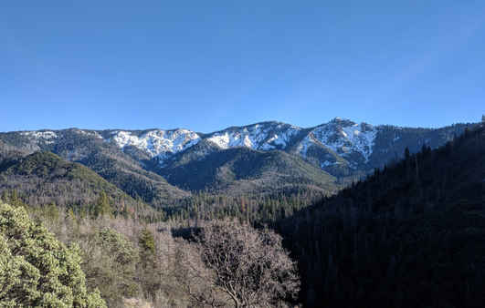 View of Slate Mountain from Pierpoint Springs
