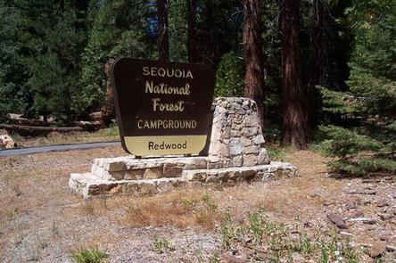 Redwood Meadow Campground Sign
