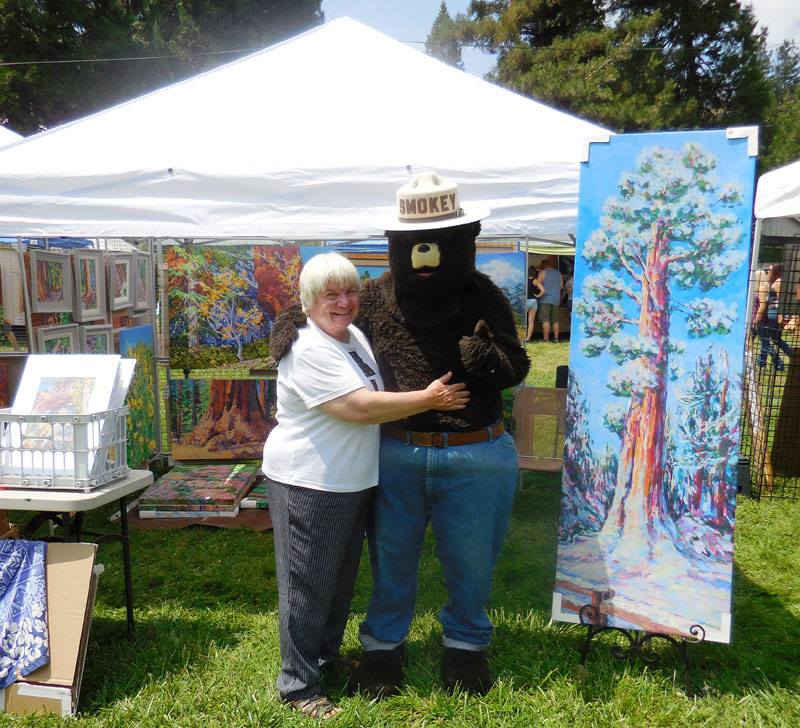 Smokey the Bear at the Camp Nelson Mountain Festival