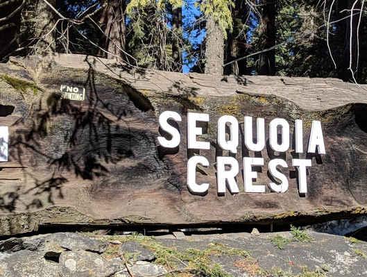 Sequoia Crest Sign