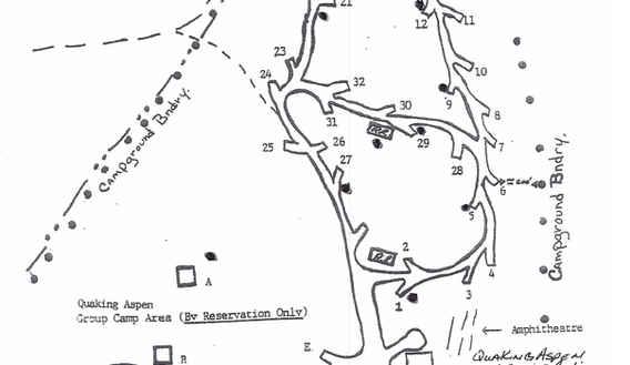 Quaking Aspen Campground Map