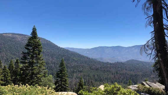 View of Mountains from Dome Rock in Ponderosa