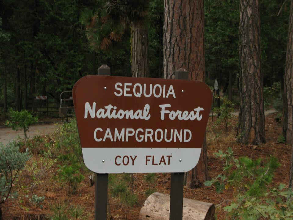 Coy Flat Campground Sign
