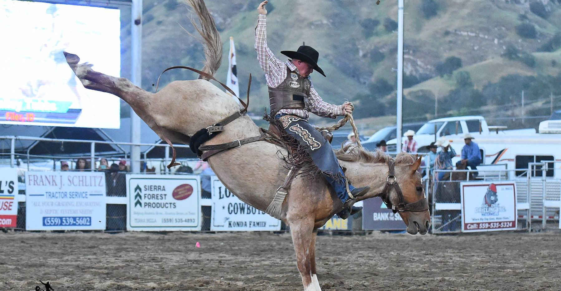 Bronc Riding at the Springville Sierra Rodeo
