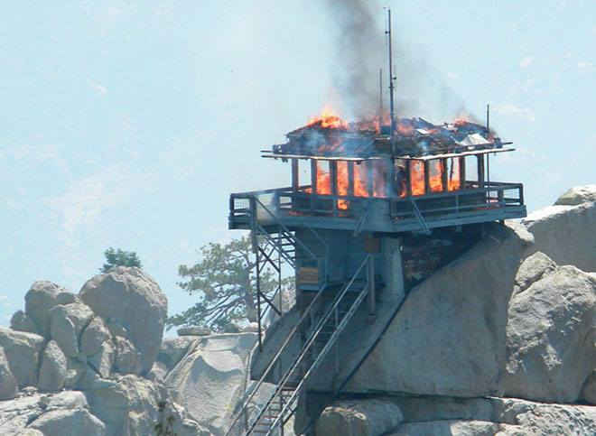The Needles Lookout Burning