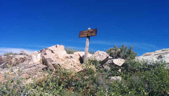 Jordan Peak Lookout Sign