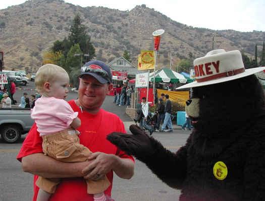 Smokey the Bear at the Springville Apple Festival