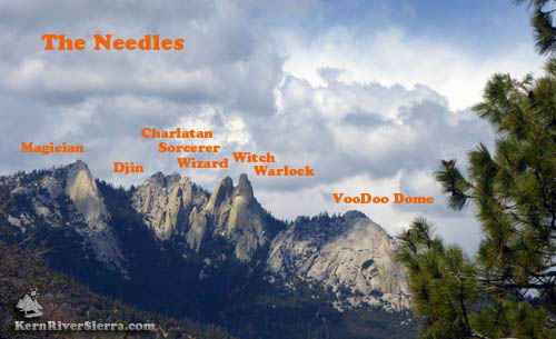 The Names of the Rock Formations of The Needles