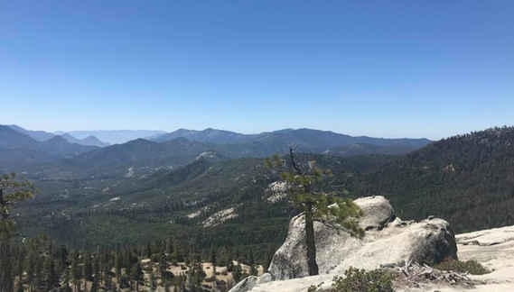 View from Dome Rock in Ponderosa