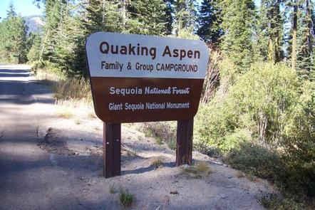 Quaking Aspen Campground Sign