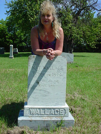 Nat Wallace grave Lone Oak Texas with gg