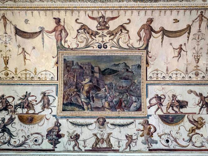 Particolare del soffitto a Palazzo del d