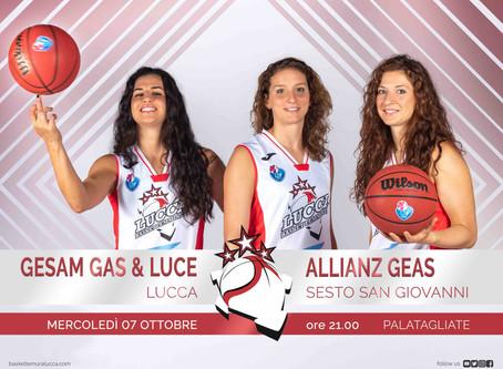 Per il debutto al Palatagliate arriva l'Allianz Geas Sesto San Giovanni
