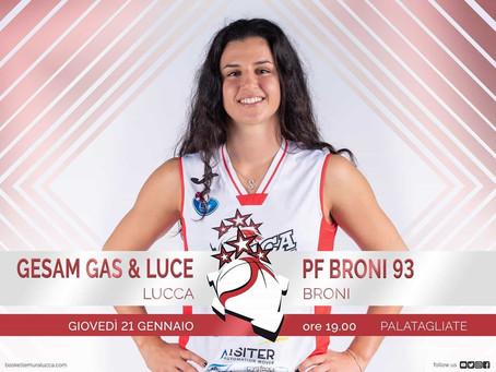 Il pre-partita Gesam Gas & Luce Lucca vs Broni sui giornali locali