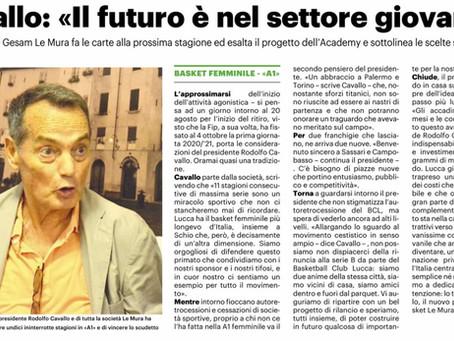 Il Presidente Cavallo intervistato dal giornale LA NAZIONE - 09 Ago 2020