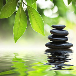 Calming zen image at Across Counseling
