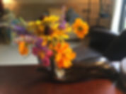 Flowers in office at Across Counseling's office